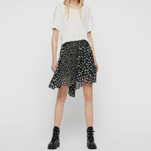 New ALLSAINTS Lea Scatter Pleated Floral Skirt